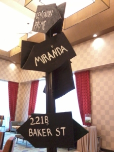 Signpost at AnomalyCon 3