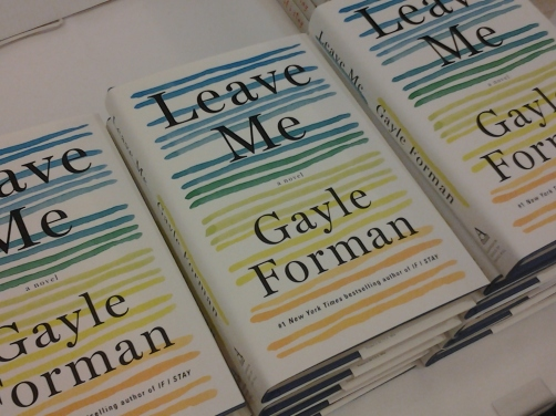Copies of Gayle Forman's LEAVE ME were available for purchase during her author talk March 22 at the Fort Collins Hilton. Photos by Shelley Widhalm/Shell's Ink Services