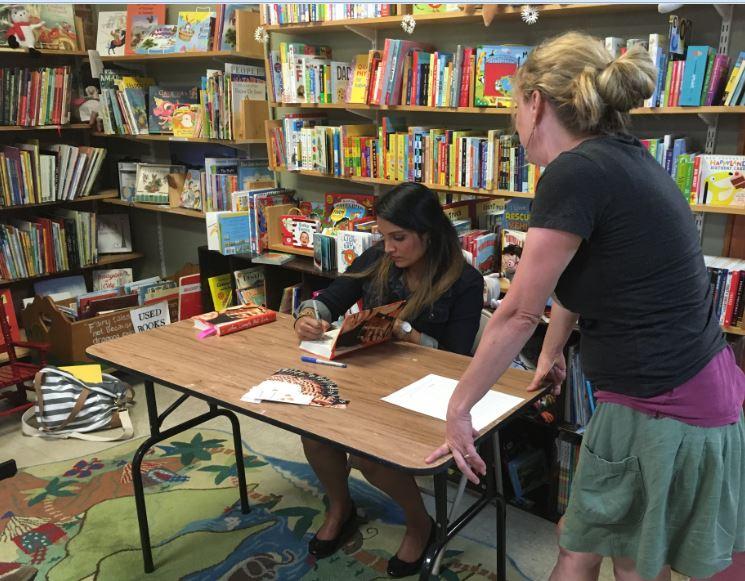 Sandhya Menon signing books