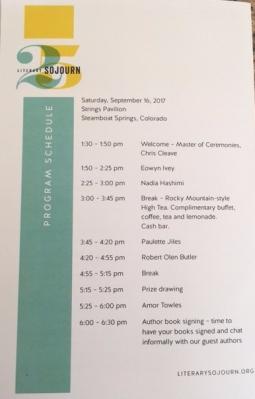 Literary Sojourn program